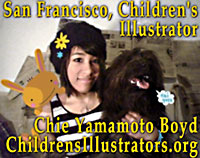 Chie Yamamoto Boyd, while student in San Francisco  BFA Illustration  program joins ChildrensIllustrators ORG